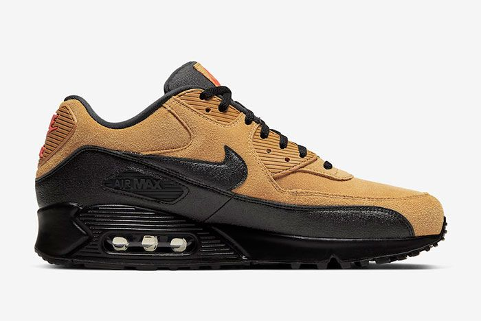 Nike Air Max 90 Wheat Suede Right