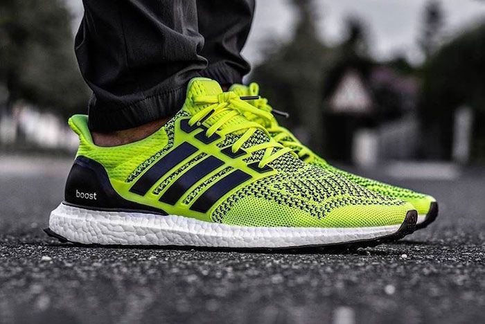 Adidas Ultra Boost 1 0 Solar Yellow S77414 2019 Release Date On Foot