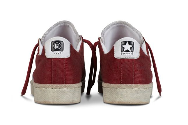 Clot X Converse Pro Leather First String Red White Lo Heels 1