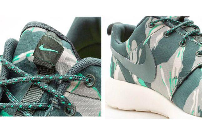 Roshe Run Forrest Camo Green Detail 1