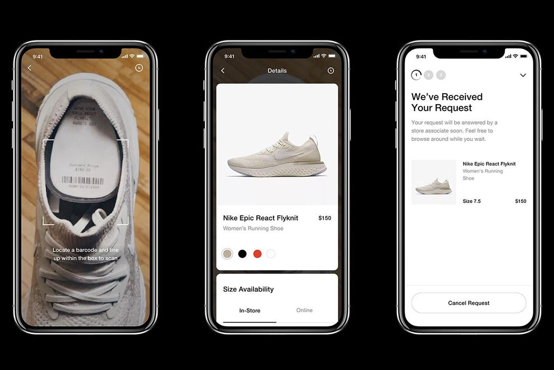Nike In Store Shopping App 1