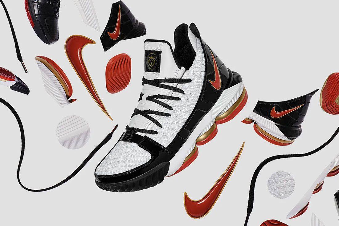 Nike Lebron 16 Remix Black Red Gold Cd2451 101Side Promo