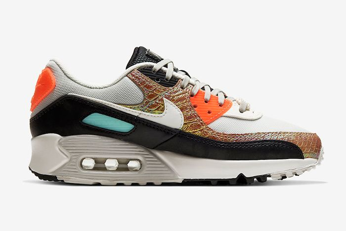 Nike Air Max 90 Gold Snake Skin Lateral Inside