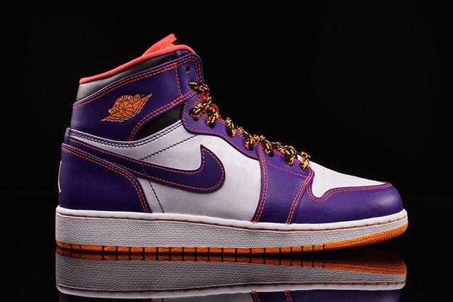 Air Jordan High Bg Court Purple Bright Crimson