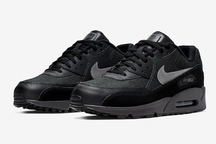 Nike Air Max 90 Black Silver Aj1285 023 Release Date 4 Pair