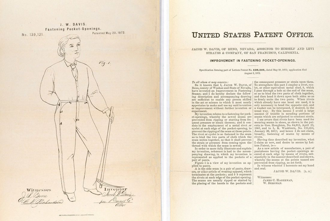 Material Matters Denim Levis Patent 1