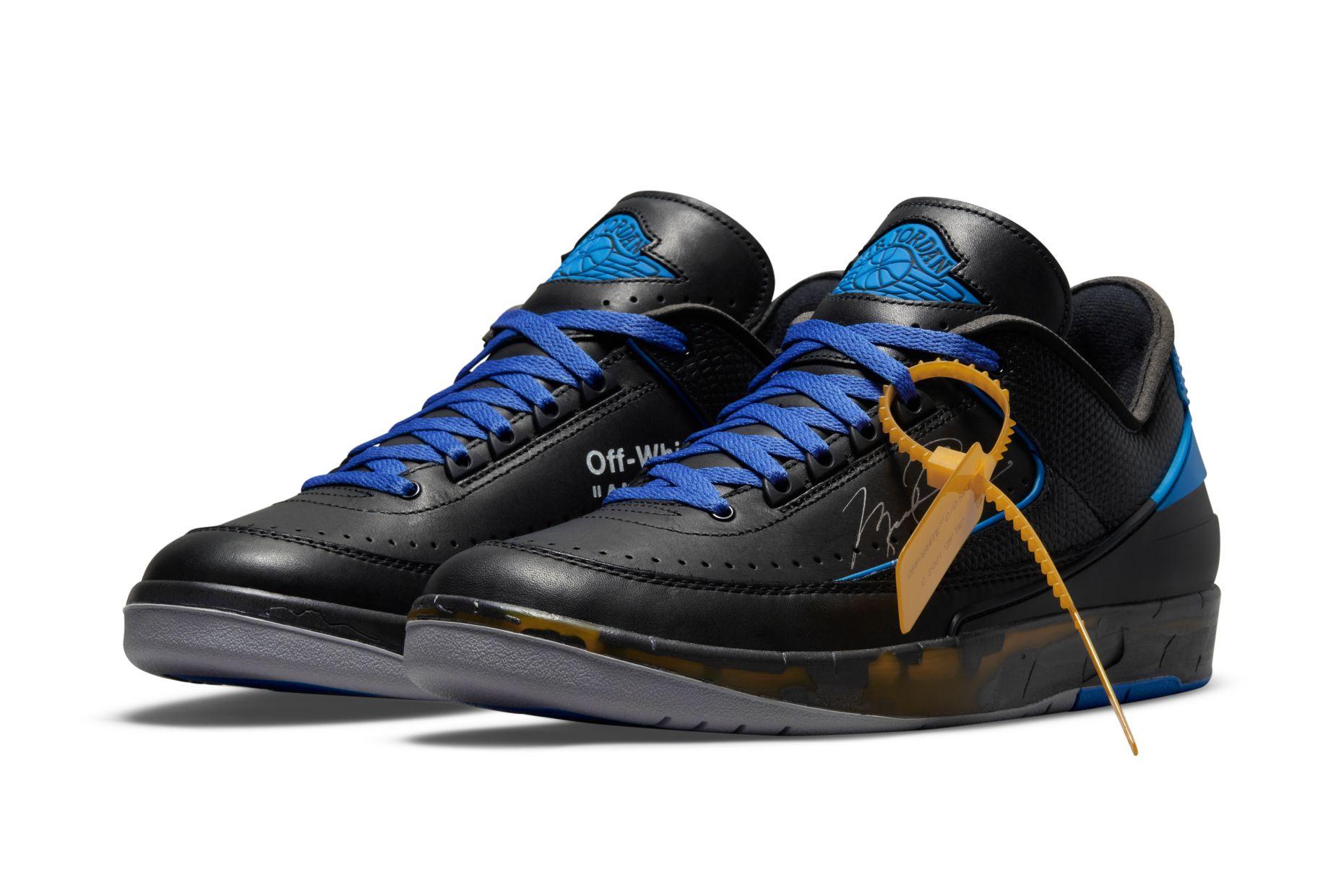 Off-White x Air Jordan 2 Low Black/Blue