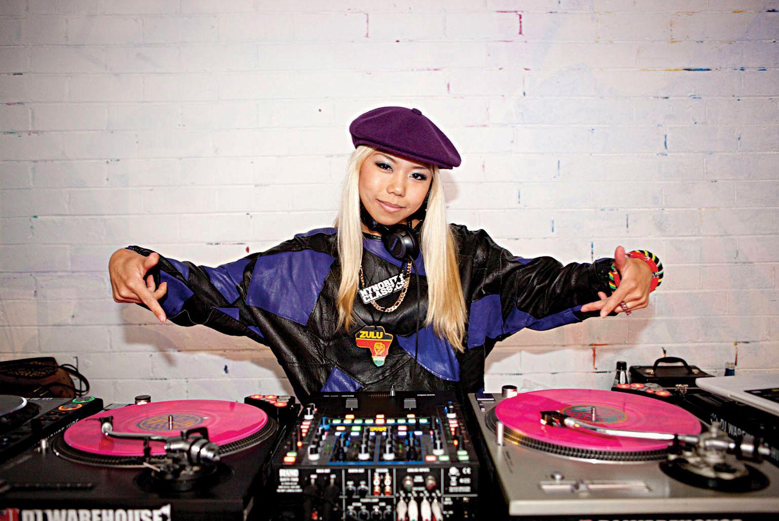 DJ Sarasa at the Sneaker Freaker Swap Meet