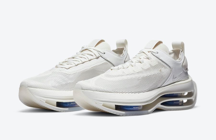 Nike Zoom Double Stacked White Angled