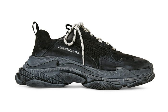 Balenciaga Triple S Black White Laces 1