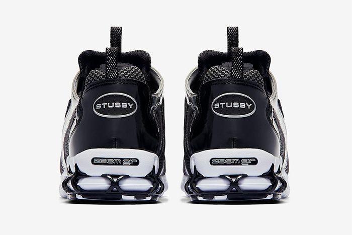 Stussy Nike Air Zoom Spiridon Caged Pure Platinum Heel