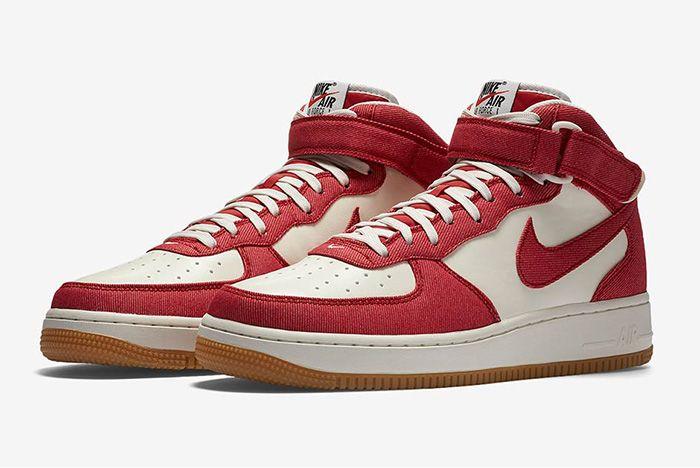 Nike Air Force 1 Red Denim 2