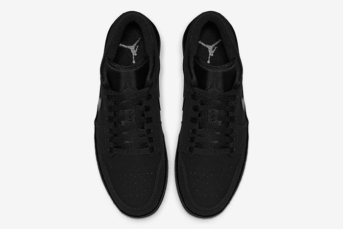 Air Jordan 1 Low Triple Black 553558 056 Top