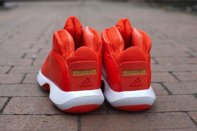 Adidas Crazy 1 Bright Orange Heel