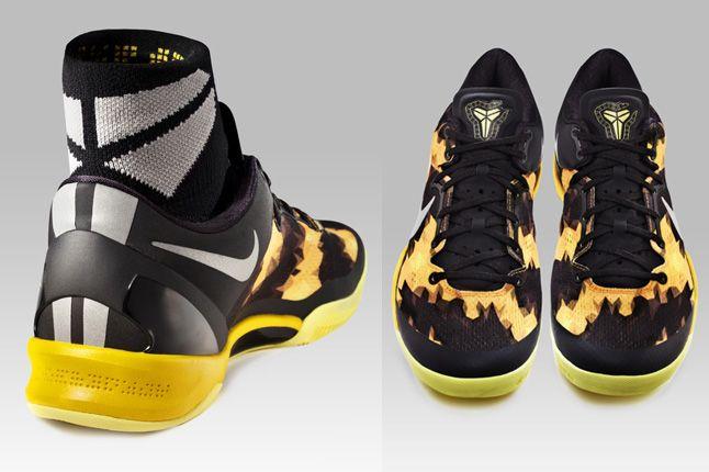 Nike Zoom Kobe 8 Yellow Heel Pair 1