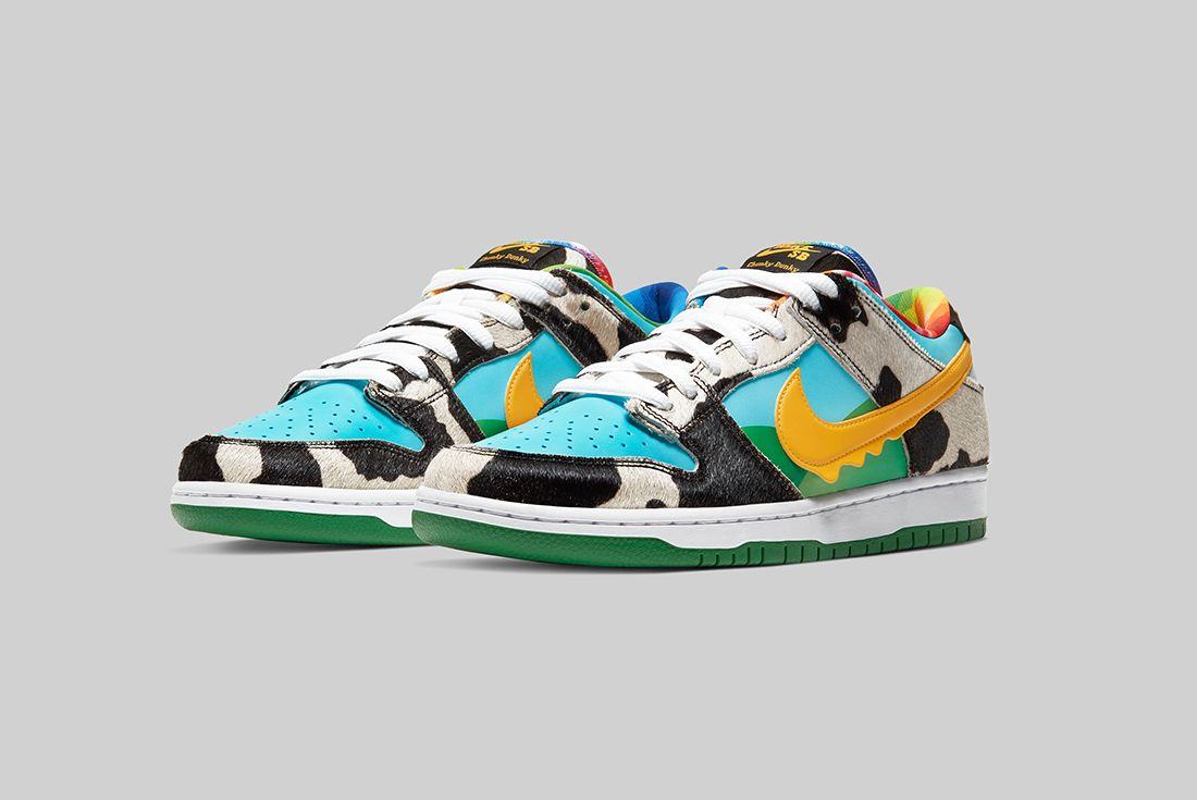 Ben & Jerry's x Nike SB Dunk Low Chunky Dunky Angled