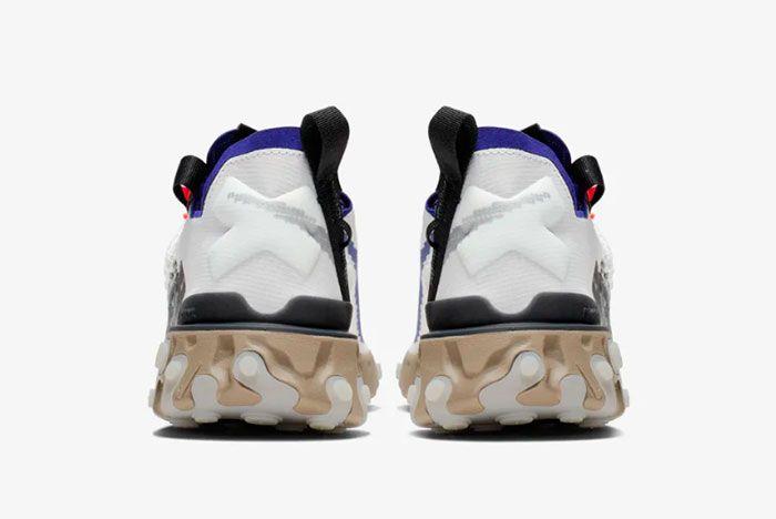 Nike Ispa React Low Summit White Heel