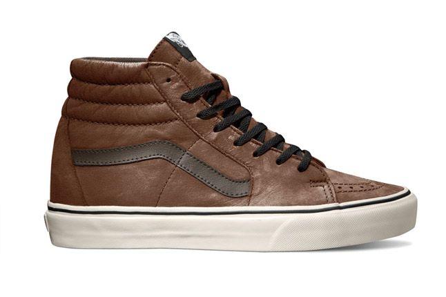 Vans Sk8 Hi Aged Leather Brown Holiday 2012 Side 1