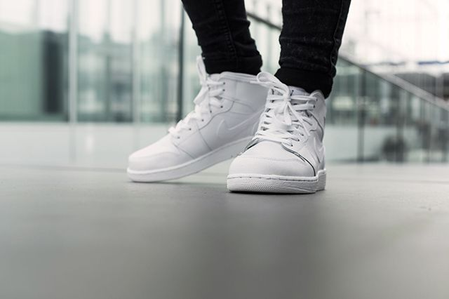 Air Jordan 1 Bg White Cool Grey
