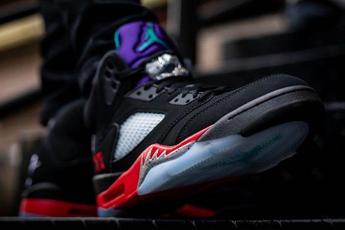 Air Jordan 5 Top 3 Cz1786 001 On Feet Release Date 4 Leak