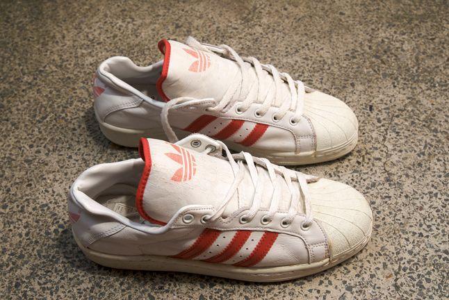 Adidas Superstar White Red Vintage 1