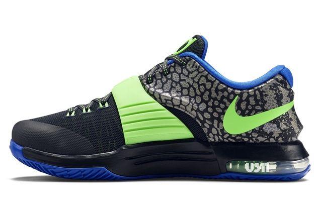 Nike Kd 7 Black Green Blue 31
