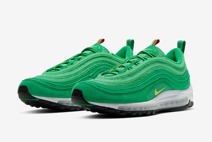 Nike Air Max 97 Lucky Green Ci3708 300 Front Angle