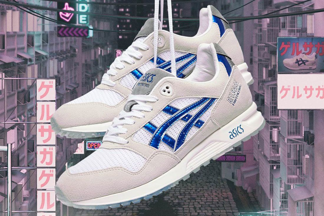 Footpatrol Asics Gel Saga Gundam White Blue 8