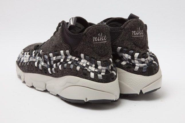 Nike Air Woven Footscape Chukka Black Heel 1