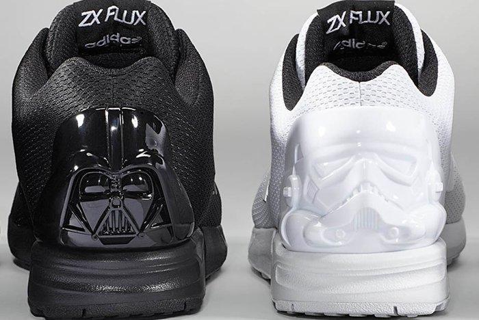 Adidas Mi Zx Flux Darth Vader Stormtrooper White Black Pair