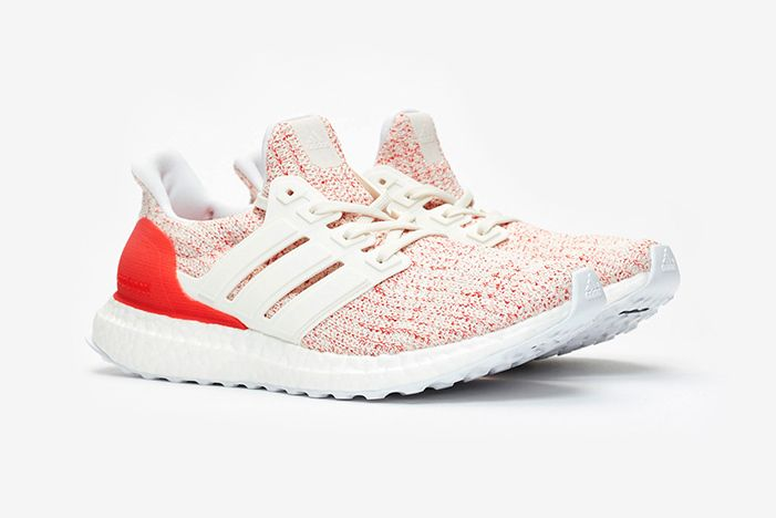 Adidas Ultraboost 4 0 W White Red 1
