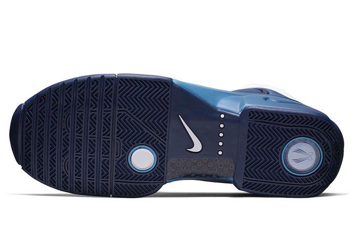 Nike Air Flightposite 2 Retro White Blue Sole