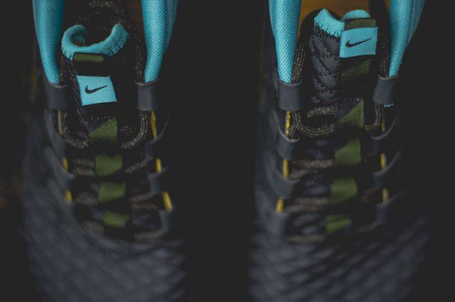 Nike Roshe Run Sneakerboot Dark Loden Mineral Teal 1