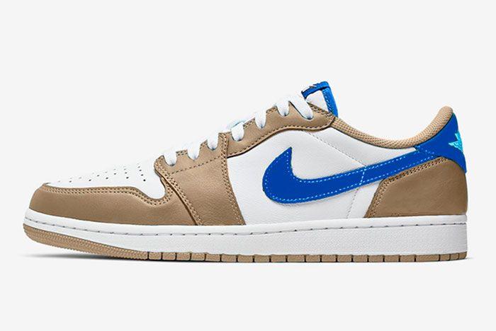 Nike Sb Air Jordan 1 Low Desert Ore Royal Blue Dark Powder Blue Release Date Info Mock Up Side
