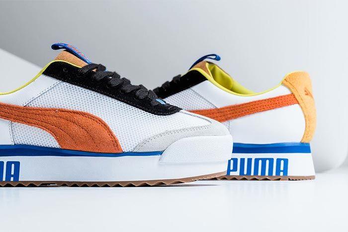 Puma Roma Amor Sport Mandarine Red Toe Box Heel