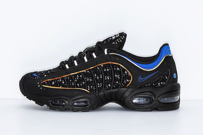 Supreme Nike Air Max Tailwind 4 Black Blue Release Date Left