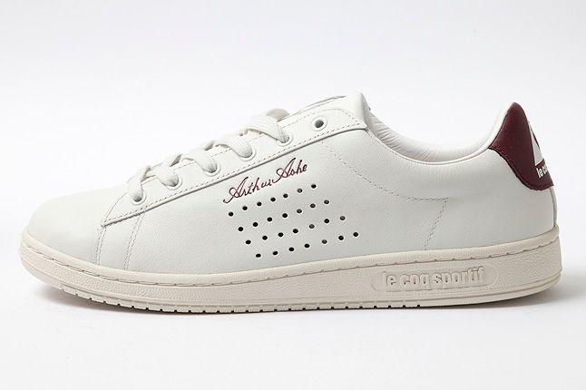 Arthur Ashe White Leather Premium Side 1