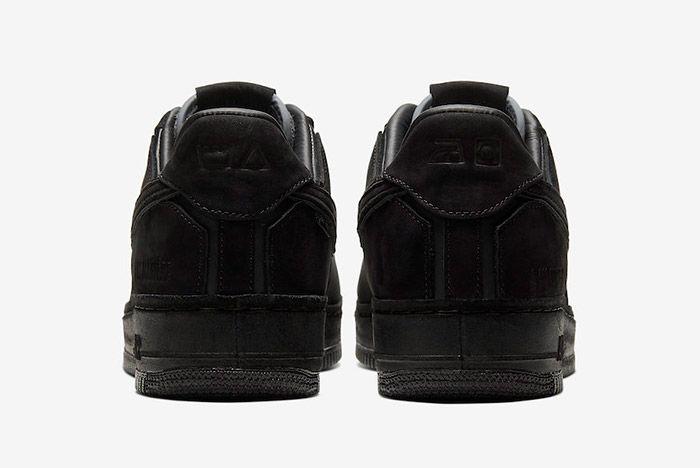 A Ma Maniere Nike Air Force 1 Black Hand Wash Cold Cq1087 002 Heel