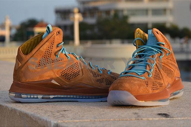 Nike Lebron X Hazelnut Brown Suede Hero Profile 1