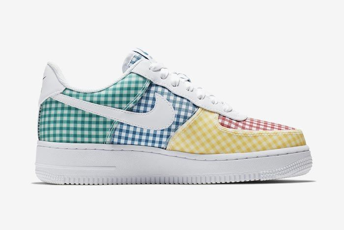 Nike Air Force 1 Gingham Pack Colour Medial