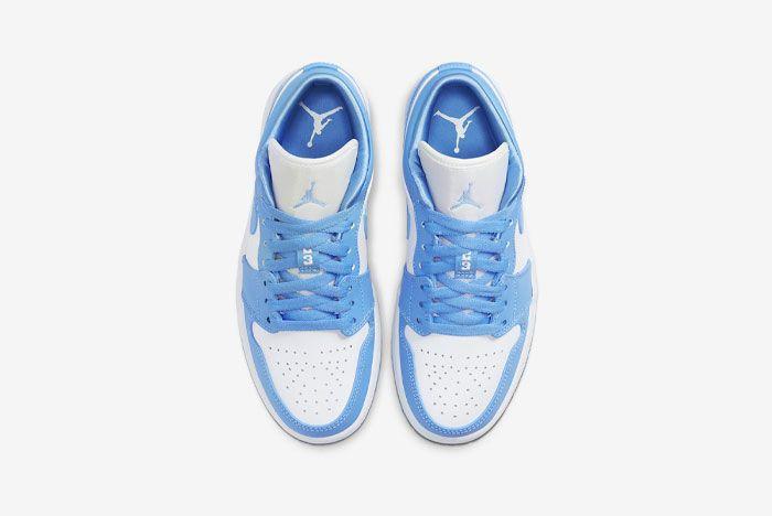 Air Jordan 1 Low Unc University Blue White Ao9944 441 Top