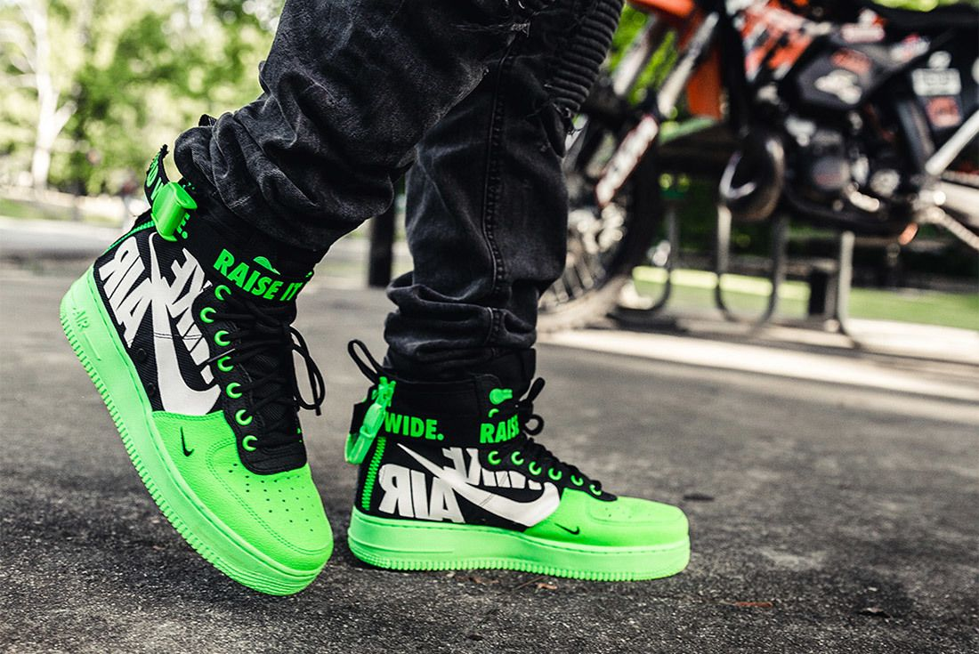 Nike Sf Af1 Mid 12 O Clock Boys Green 1
