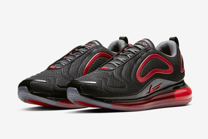Nike Air Max 720 Black Red Pair
