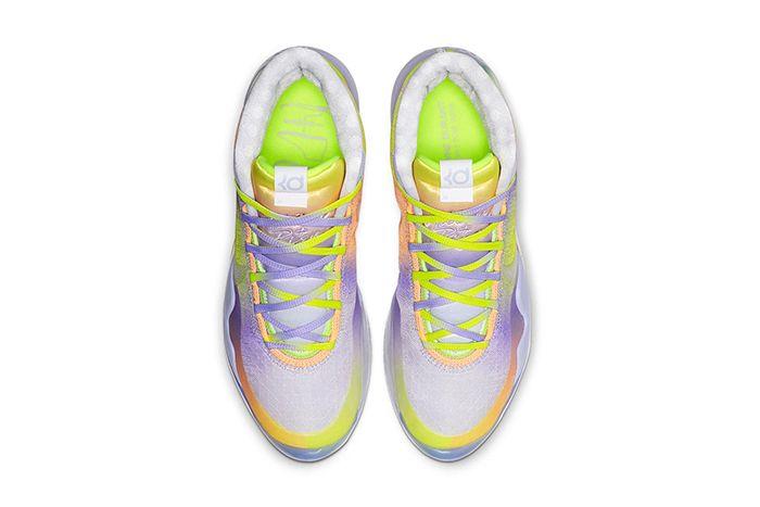 Nike Kd 12 Eybl Yellow Purple Orange Release Date Top Down