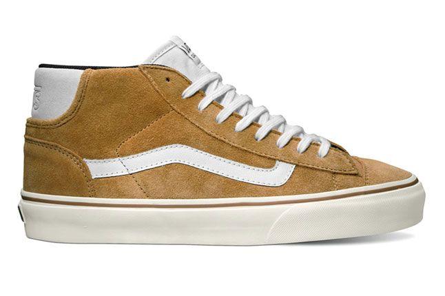 Vans California Collection Mid Skool 77 Ca Suede Bone Brown Spring 2013 1