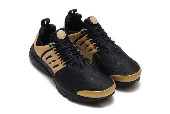 Nike Air Presto Black Metallic Gold 3