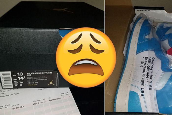 Jordan Off White Powder Blue Box