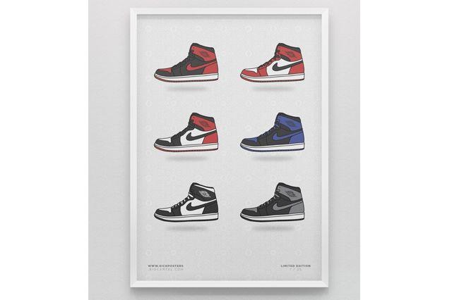 Sneaker Prints Air Jordan 1