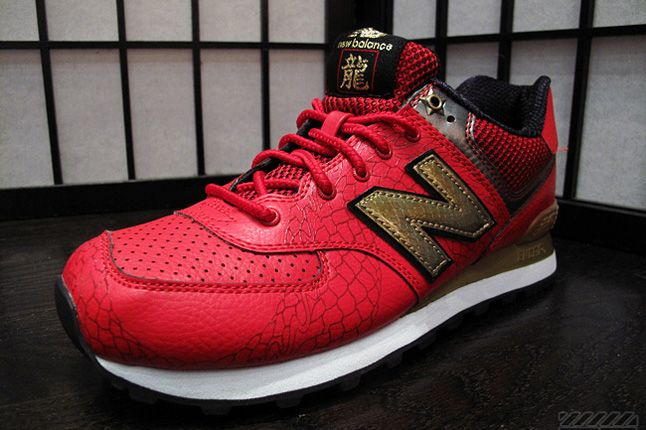 New Balance 574 Year Of The Dragon Quater Red 1