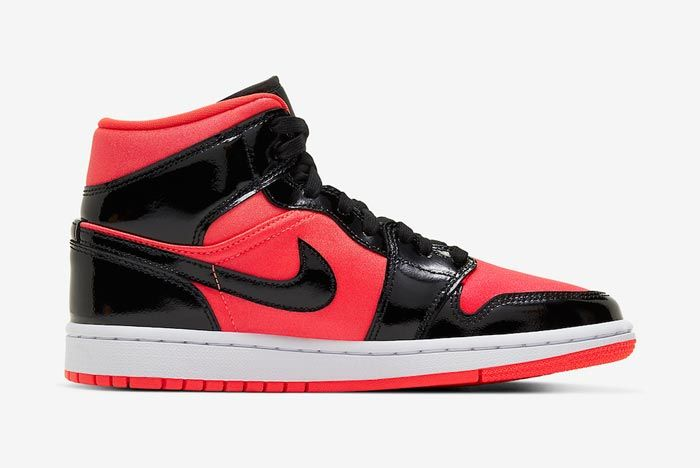 Air Jordan 1 Mid Womens Hot Punch Black Medial
